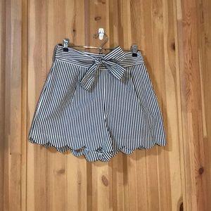 High Waisted Scalloped Shorts